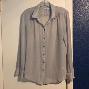 Gap shimmery gray blouse